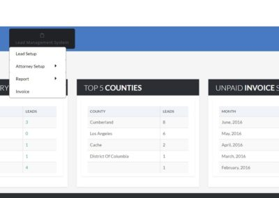 Web based Lead Management System for Law Business