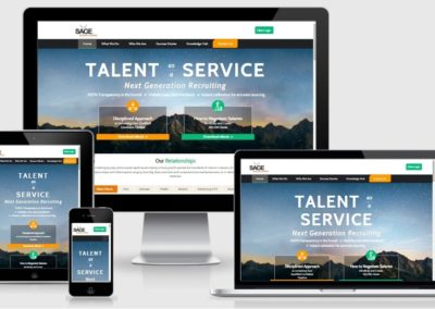 Website Design and Development for Recruiting Business Company