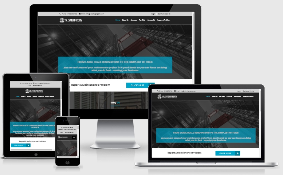 Custom Property Showcase website integrated with Customer relationship management